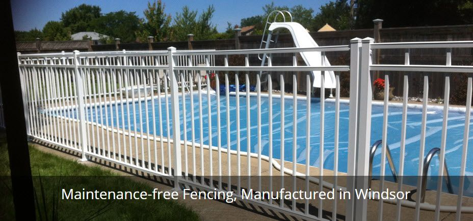 maintenance-free fencing, manufactured in windsor